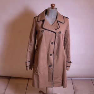 Club Monaco Brown Trench Coat Size Large